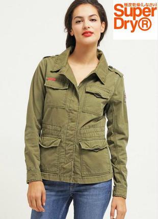 Женская куртка цвета хаки в стиле милитари от superdry, оригинал