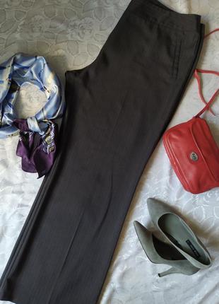 Классические широкие брюки /серые в полоску