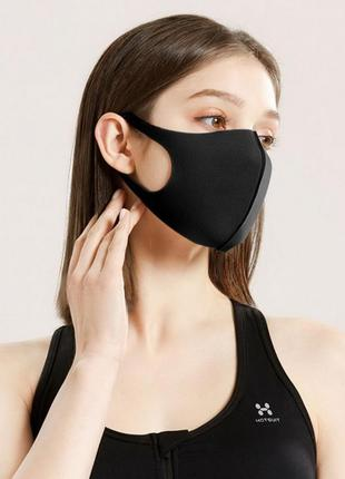 Маска на лицо защитная черная guard pitta mask (1 шт/уп)