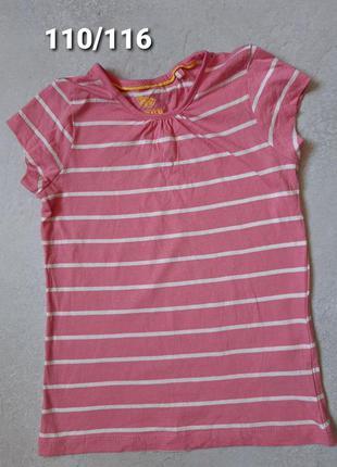 Детская футболка lupilu на девочку 4-6 лет, рост 110/116
