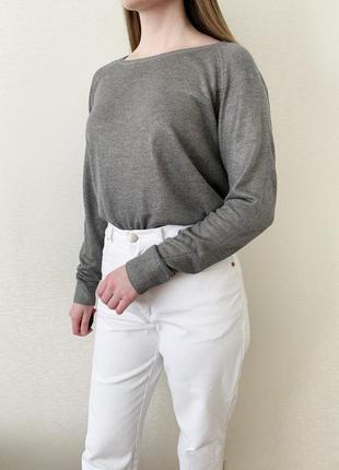 Кофта, пуловер, джемпер, лонгслив, серый, сірий, серебристая, ...