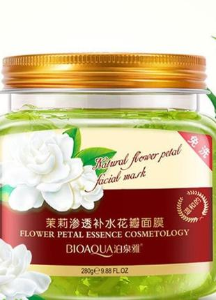 Несмываемая ночная маска Bioaqua Natural flower petal facial mask