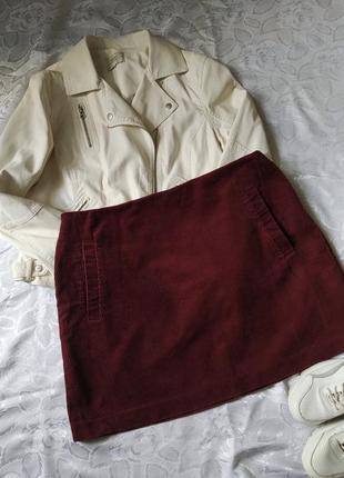 Вельветовая юбка мини большой размер