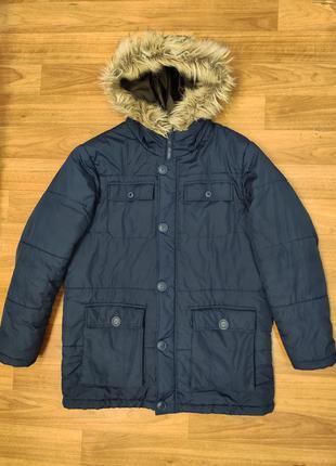 Identic мужская удлиненная куртка с капюшоном, демисезон - евр...