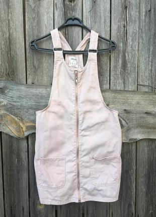 Джинсовый комбинезон полукомбинезон юбка