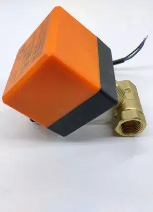 Кран шаровый с электроприводом 220 вольт