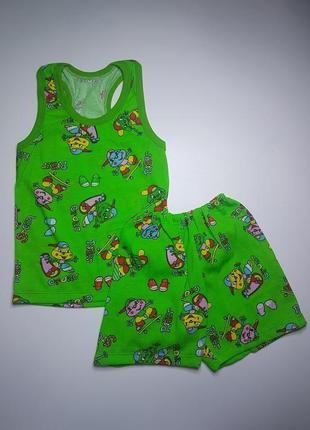 Борцовка и шорты для мальчика летний комплект на 3-4 года