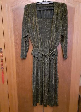 Нарядный вечерний  костюм сарафан и пиджак/накидка