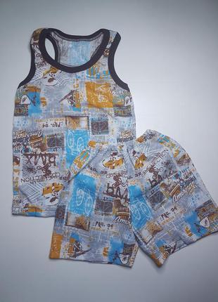 Борцовка и шорты для мальчика летний комплект на 5-6 лет