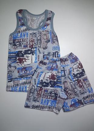 Борцовка и шорты для мальчика летний комплект на 4-5 лет