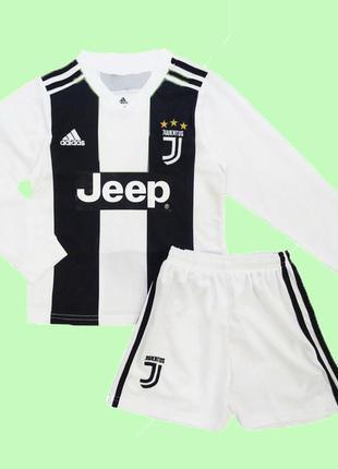Детская футбольная форма ювентус с длинным рукавом 2019 adidas...