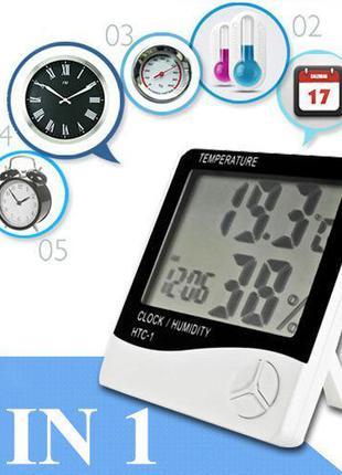 Термометр(гигрометр),часы,будильник HTC-1(есть HTC-2 с выносны...