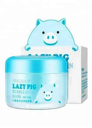 Кислородно - пузырьковая маска для лица Bingju Lazy Pig Bubble