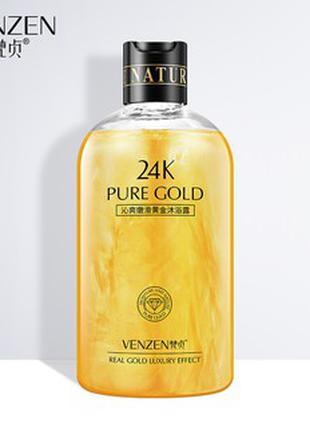 Гель для душа с коллоидным золотом Venzen 24 K Pure Gold Cool
