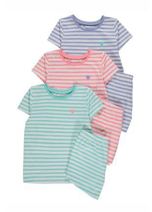 Пижама для девочки короткий рукав