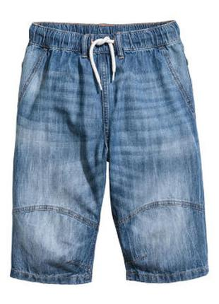 Джинсовые шорты h&m 8-9л