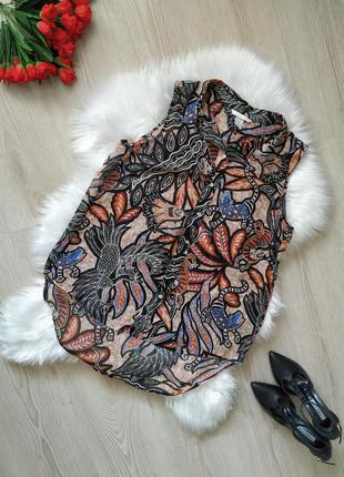 Трендовая блуза от h&m с африканским принтом