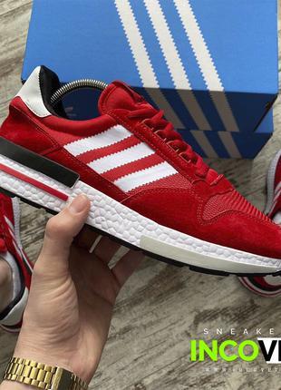 Мужские кроссовки Adidas ZX 500 RM Red красные