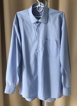 Голубая рубашка мужская cornalli