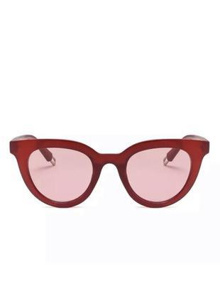 Очки стильные солнцезащитные имиджевые квадратные прямоугольны...