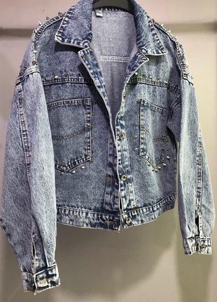 Джинсовка джинсовая куртка пиджак