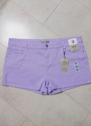 Джинсовые лиловые шорты, шорты суперстрейч, большой размер