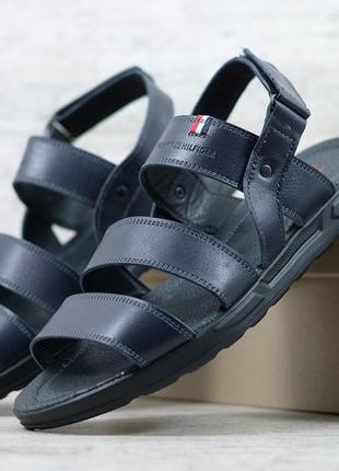 Базовые повседневные кожаные мужские босоножки сандалии. люкс ...