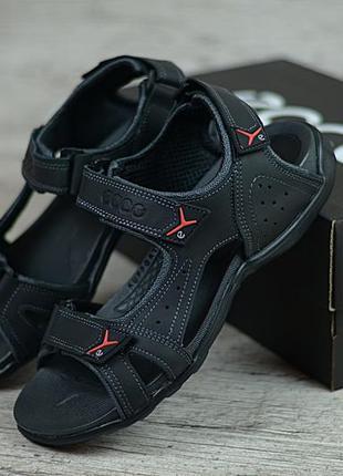 Спортивные летние мужские кожаные босоножки сандалии. люкс кач...