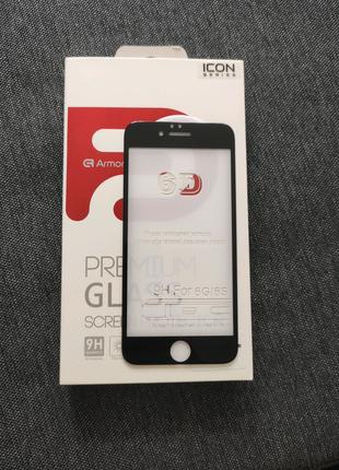 Защитное стекло iphone 6 black