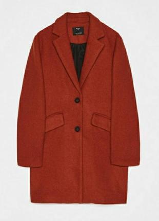 Стильное шерстяное пальто в мужском стиле, бойфренд  bershka