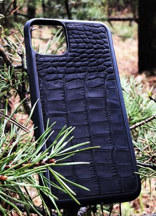 Чехол для (Iphone 11+) alligator black