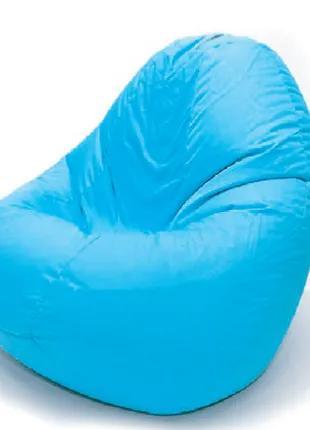 """Кресло-Мешок """"Груша"""" Оксфорд размера S (90×65) С Чехлом Голубое"""