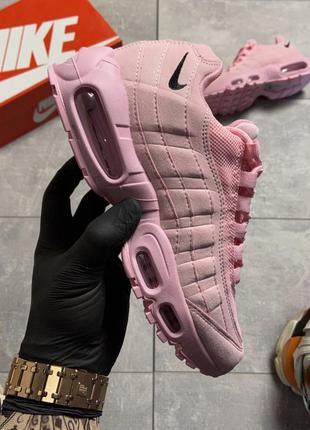 Женские кроссовки nike air max 95 розовые