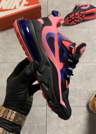 Женские кроссовки nike air max 270 react black pink