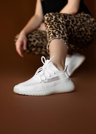 Женские кроссовки adidas yeezy 350 v2 white