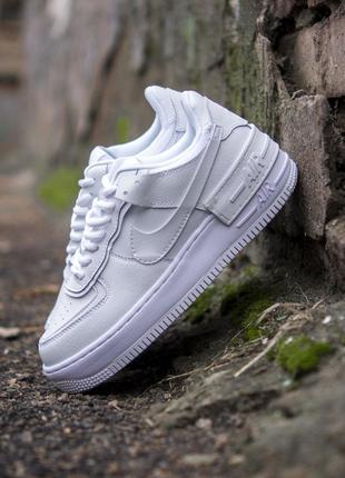 Женские кроссовки nike air force shadow white