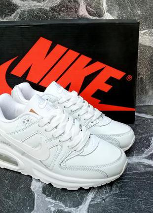 Женские кроссовки nike air max 90 white белые,кожаные