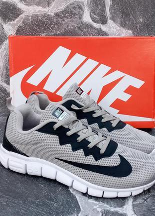 Мужские кроссовки nike free run 5.0 серые,сетка,беговые