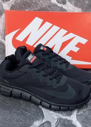 Мужские кроссовки nike free run 5.0 черные,сетка,спортивные