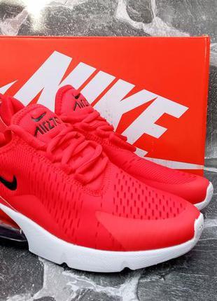 Мужские кроссовки nike air max 270 красные,сетка