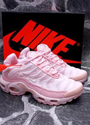 Модные кроссовки nike air max tn розовые,женские,сетка,летние