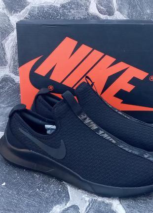 Мужские кроссовки nike free run classic черные,без шнурков,сетка