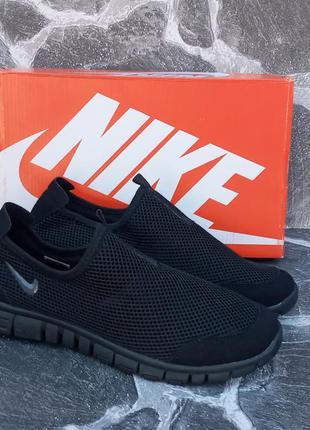 Мужские кроссовки nike free run 3.0 черные,сетка,летние,беговые