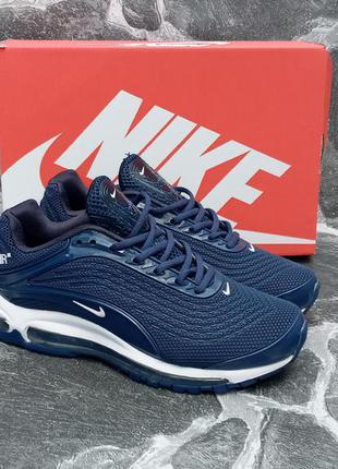 Мужские кроссовки nike air max 98 синие,летние