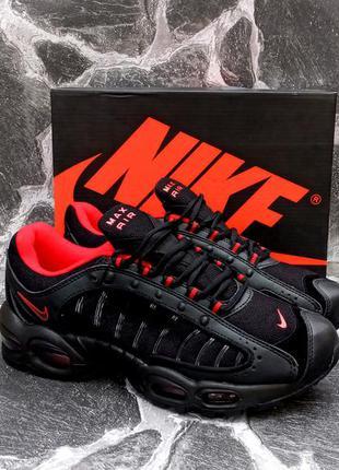 Мужские кроссовки nike air max supreme черные,летние,сетка