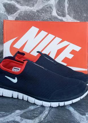 Мужские кроссовки nike free run 3.0 синие,сетка,летние