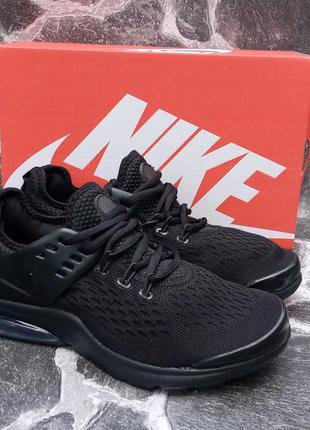 Мужские кроссовки nike presto черные,сетка,летние