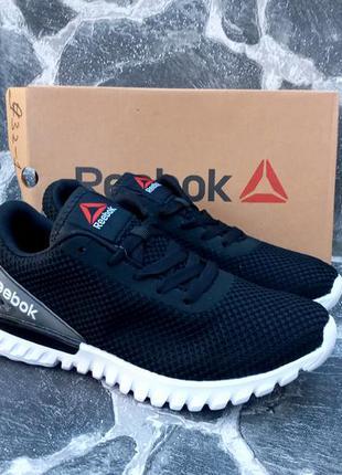 Мужские кроссовки reebok urban classic черные,сетка,летние