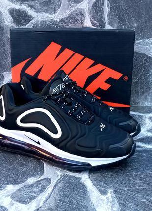 Мужские кроссовки nike air max 720 черные,сетка,летние