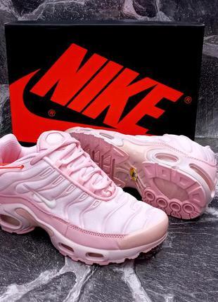 Стильные женские кроссовки nike air max tn сетка,розовые,летние